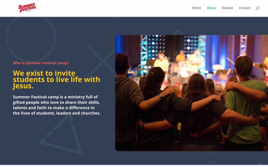 Redo of the Summer Festival Camp Website